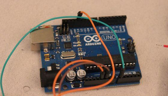 An Arduino microcontroller