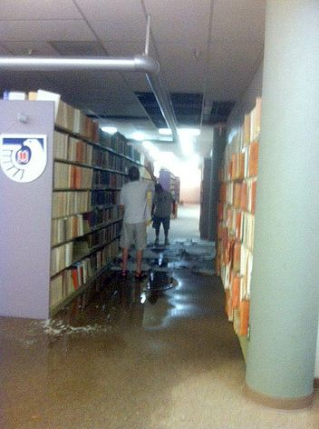 Centennial Library water damage