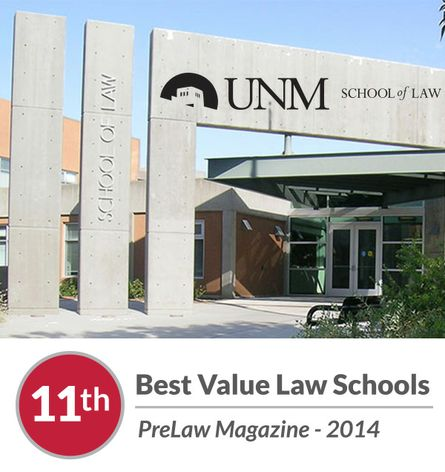 UNM School of Law 11th Best Value 2014