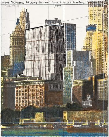 Lower Manhattan Wrapped Building