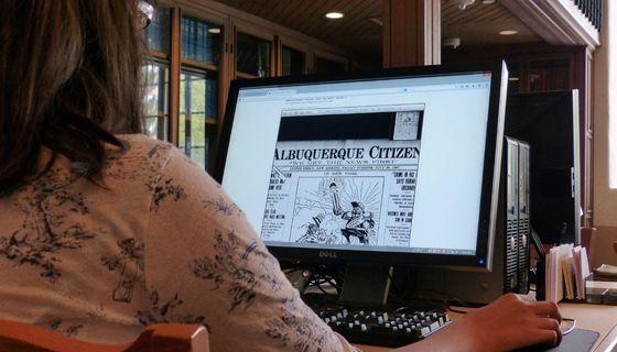 UNM Libraries newspaper digitization