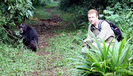 Martin Muller at Kibale chimpanzee site