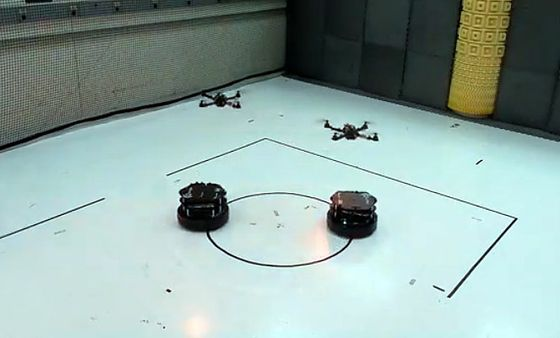 Robots working in coordination