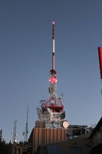 NASA signal transmitter atop Sandia Crest near Albuquerque, New Mexico