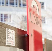 Be Kind magnet on campus