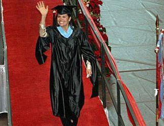 Romero on graduation day