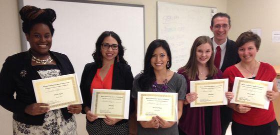 Mercer Scholarship Speech Tournament winners