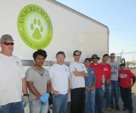 UNM Recycling staff