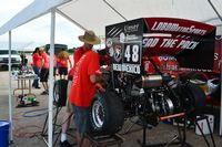 2015 FSAE facing team working on car