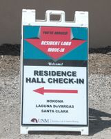 Move-in signage