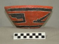 Fourmile Polychrome flowerpot-shaped vessel (Cat. No. A-28500) from Grasshopper Pueblo. Photograph by Patrick D. Lyons, courtesy of the Arizona State Museum, University of Arizona.