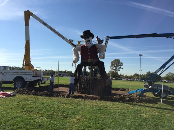 Pistol Pete Being Hoisted Up