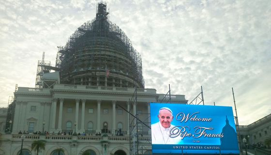 Pope Francis in the Capitol