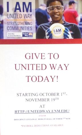 UNM United Way Campaign Poster