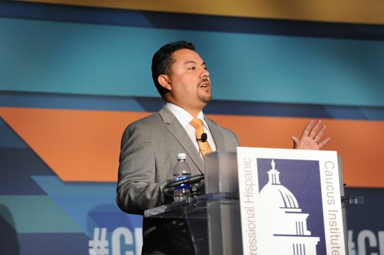 Gabriel Sanchez speaking at CHCI Conference