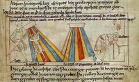 A page from MS Cotton Claudius B. iv, the Old English Hexateuch