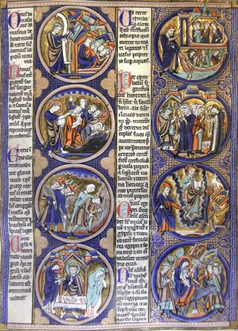 Page of a Bible Moralisée