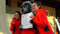 Lobo Lucy at Random Acts of Kindness Event