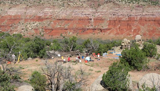 Abiquiu excavation site