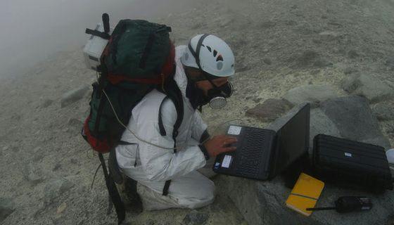 Fischer monitors gas samples