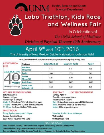 Lobo Triathlon set for April 9-10 :: The University of New ...
