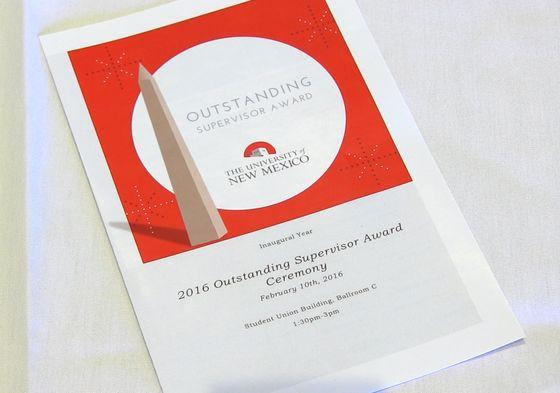 Outstanding Supervisor Awards