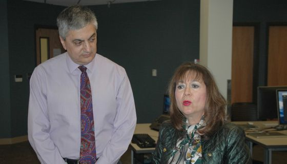 Provost Abdallah and HED Secretary Damron