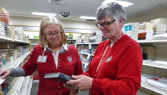Bookstore Director Carrie Mitchell and Textbooks/Course Materials Division Manager Peg Lewis are always looking for ways to lower textbook costs