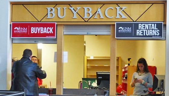 Students can sell back textbooks or return rented textbooks at the end of the semester
