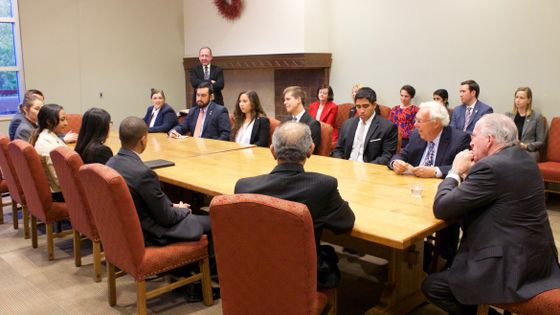 CIA Director and UNM Students