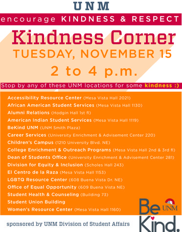 Kindness Corner locations