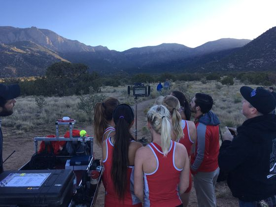 Filming Cross Country Team