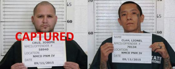 Mug shots for Joseph Cruz & Lionel Clah