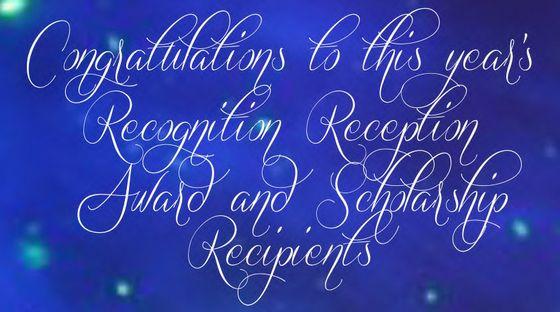 2016 Recognition Reception Congratulations