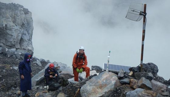 Tobias Fischer at Poás Volcano