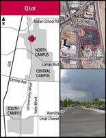 Q Lot map
