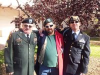 Buozis with other UNM veterans