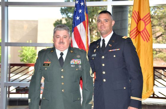 Buozis (r.) and 2nd Lt. Zach Alexander