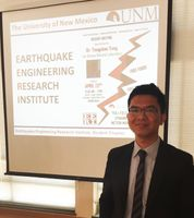 The guest speaker at the inaugural meeting of the UNM chapter of EERI was Yongchao Yang from LANL