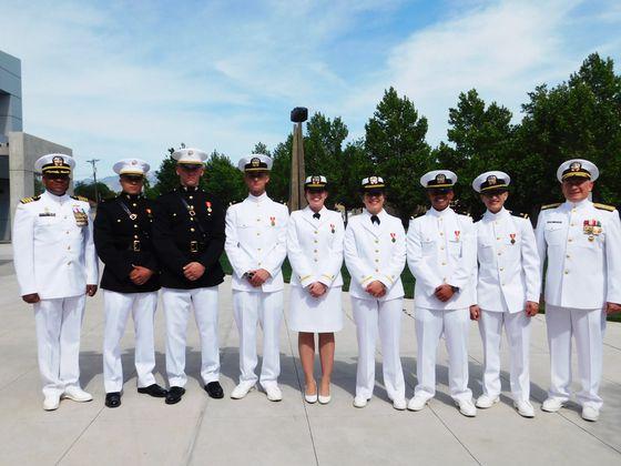 Three Generations of Lobo Sailors and Marines