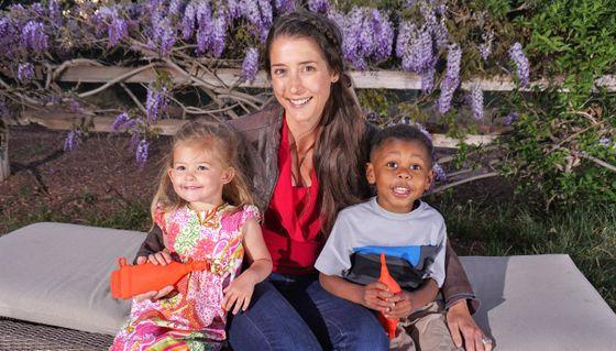 Gina and children