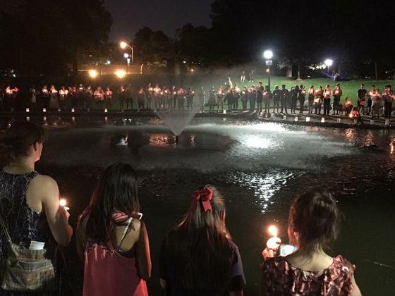 Duck Pond candlelight vigil