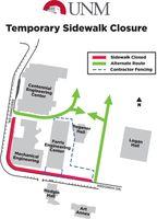 Farris Engineering sidewalk closure