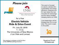 PNM-UNM EV Ride & Drive