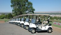 Golf carts at The Championship Golf Course