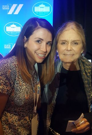 Cinday Nava and Gloria Steinem