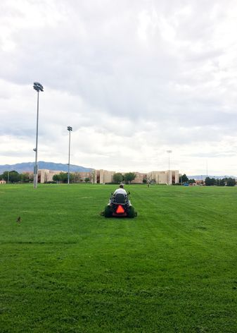 Mowing Johnson Field