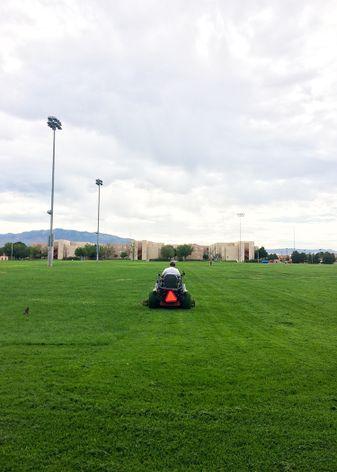 Mowing Johnson Field