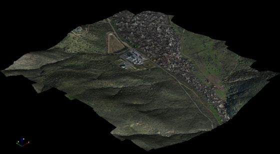 3D Image of a Valley