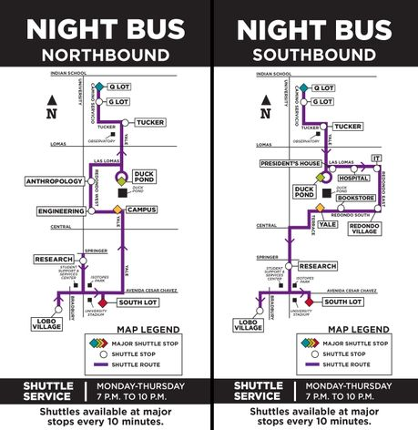 Night Bus map